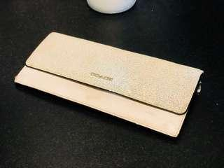 Coach Saffiano Colorblock Mixed Leather Soft Wallet