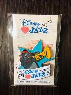 Disneyland Resort Paris pin 法國巴黎迪士尼徽章襟章 Aristocat Disney Love Jazz - Scat Cat LE500 Disney pins