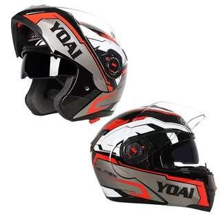 摩托车头盔四季通用揭面盔全覆式半带蓝牙男女冬季机车个性酷全盔