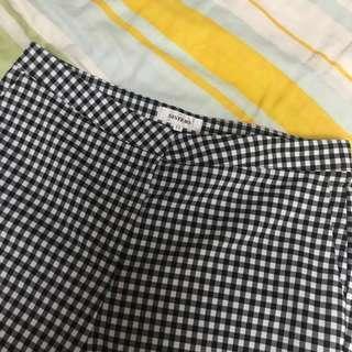 🚚 小方格質感壓線鉛筆褲