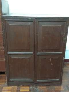 Solid Two-Door Antique Cupboard