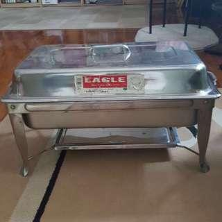 Second Hand Large Stainless Steel Eagle Brand Buffet Chafing Tray