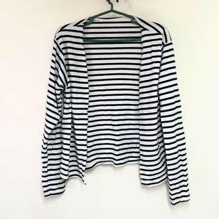 White Stripe Cardigan