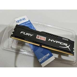 金士頓 DDR4 16G 2400 HyperX FURY