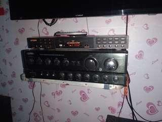 Dvd player and amplifier