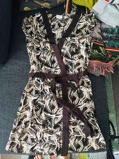 Floral printed wrap tunic