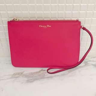 Christian Dior 桃紅色手拿包