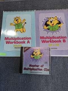 Shichida multiplication set with CD