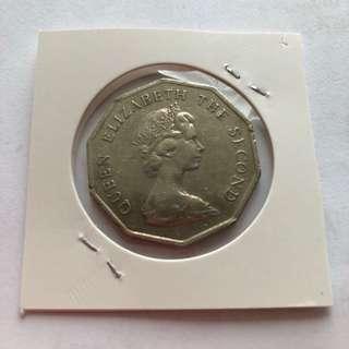 1976年英女皇十邊形5元