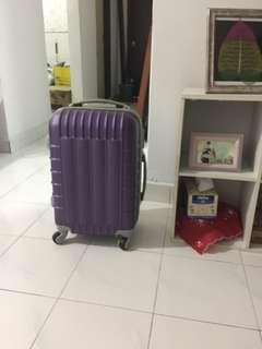Hand carry on board flight luggage trolley bag