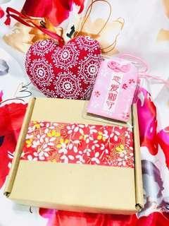 少量現貨/預訂♥️2019 元宵情人節禮盒 戀愛祈願護身符+心形香包掛飾 求婚周年紀念 新年賀年情人節元宵節禮物 ROMANIC LOVE VALENTINES ANNIVERSARY WEDDING LUCKY BAG & HEART CHARM BOX GIFT