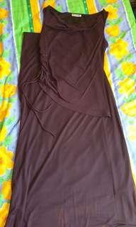 Purple top and skirt