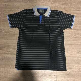 Springfield Polo Shirt stripes Black / Gray