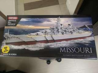 Oxford Missouri BM 35215, US Navy battleship 積木
