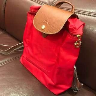 🚚 Longchamp帆布後背包⚜️正紅色