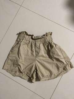 Scrunchie elastic waist shorts