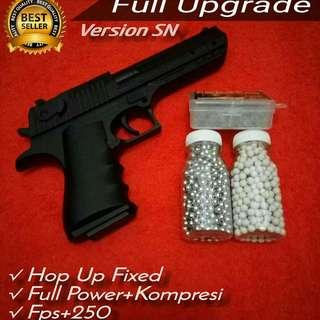 Pistol Mainan Airsoftgun Spring Desert Eagle 699 Full Upgrade