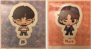Got7 Japanese Fanclub stickers