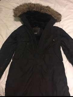 TNA black medium parka