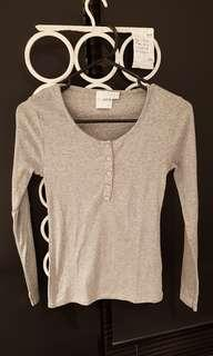 BNWOT ASOS grey long sleeve top