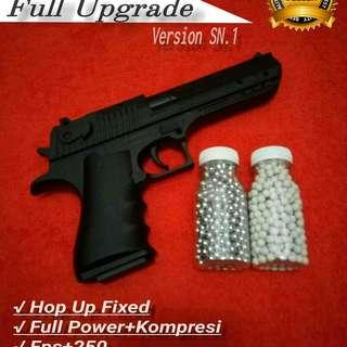 Pistol Mainan Airsoftgun Spring Desert Eagle Full Upgrade