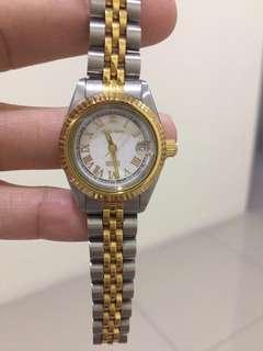 Aries Gold 23k gold plated case Women Swiss Watch
