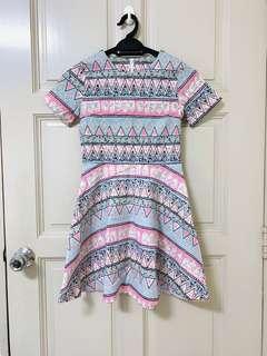 Pastel Geometric Dress