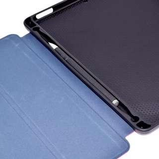 Tri fold stand flip smart cover with pencil holder iPad