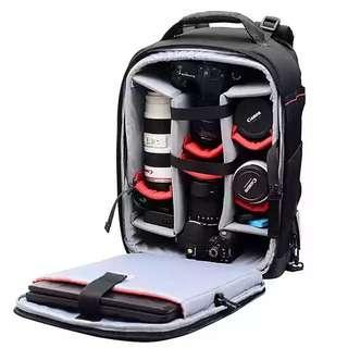 Camera bag with wheel