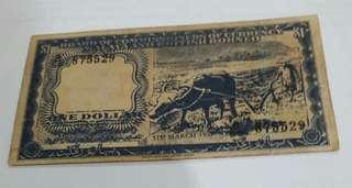 MALAYA BANK NOTE $1