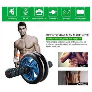 Fitness Double Roller Exercise AB Wheel (Free Knee Mat)