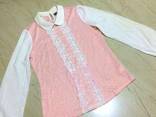Arrow Long Sleeve light Pink Top