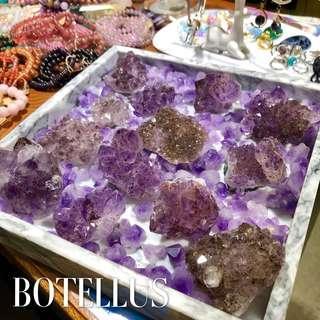 天然水晶 紫鈦晶花