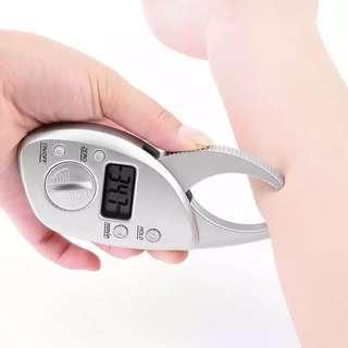 Digital Body Fat Caliper Monitors Electronic body fat analyzer Skin Muscle Tester