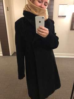 Hilary Radley Black Wool Coat Size 10