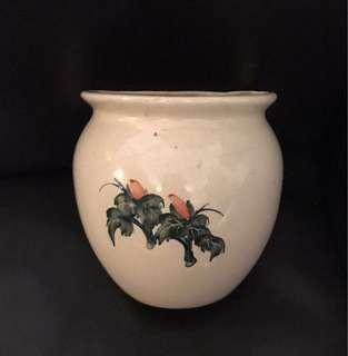 Big wall hanging porcelain flower vase