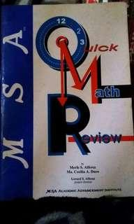 MSA Quick Math Review