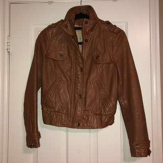Cognac Real Leather Jacket