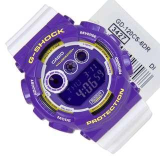 Authentic Brand New Casio G-Shock GD-120CS-6DR GD-120CS-6 Digital ILLUMIR Men's Watch GD-120 GD120CS-6 GD120CS-6D
