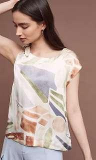 Anthropologie women's top Xs
