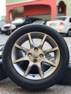 original 15 inch sports rim alza advance tyre 80%