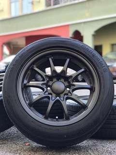 ce28 15 inch sports rim myvi tyre 70%