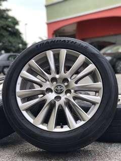 original toyota harrier vellfire 18 inch sports rim tyre 70%