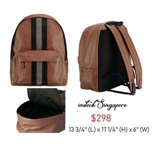 READY STOCK authentic new Coach CHARLES BACKPACK WITH VARSITY STRIPE (COACH F31347)