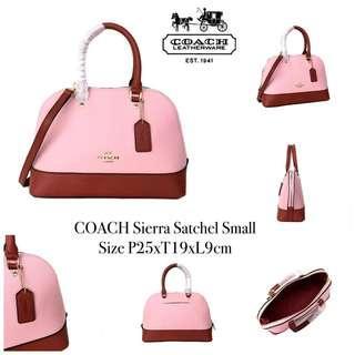 💐READY STOCK💐  Name               : COACH Sierra Satchel Small Size                  : P25xT19xL9cm Harga              : 1.950.000 Berat    : 0,79kg Kualitas : SISA PRODUKSI PABRIK Kelengkapan : Dustbag,Paperbag, and CC ( Selama Persediaan Masih Ada )