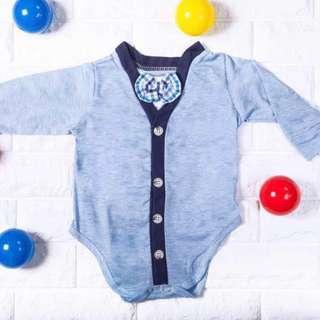 🚚 Instock - blue bow romper, baby infant toddler boy