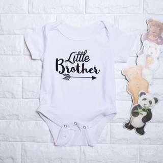 🚚 Instock - little brother romper, baby infant toddler boy