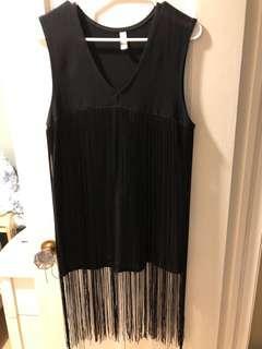 American Apparel Fringe Dress SZ XS/S