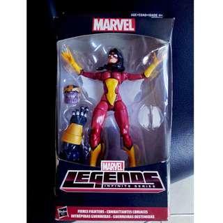 Hasbro Marvel Legends Spider-Woman Jessica Drew Build-A-Figure Thanos BAF