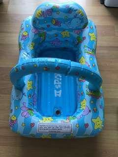 Baby inflatable bath swim tub with toy bar